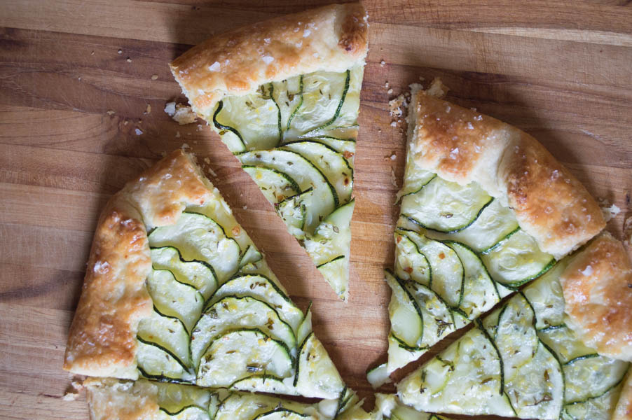 zucchini and comté galette  the proper binge